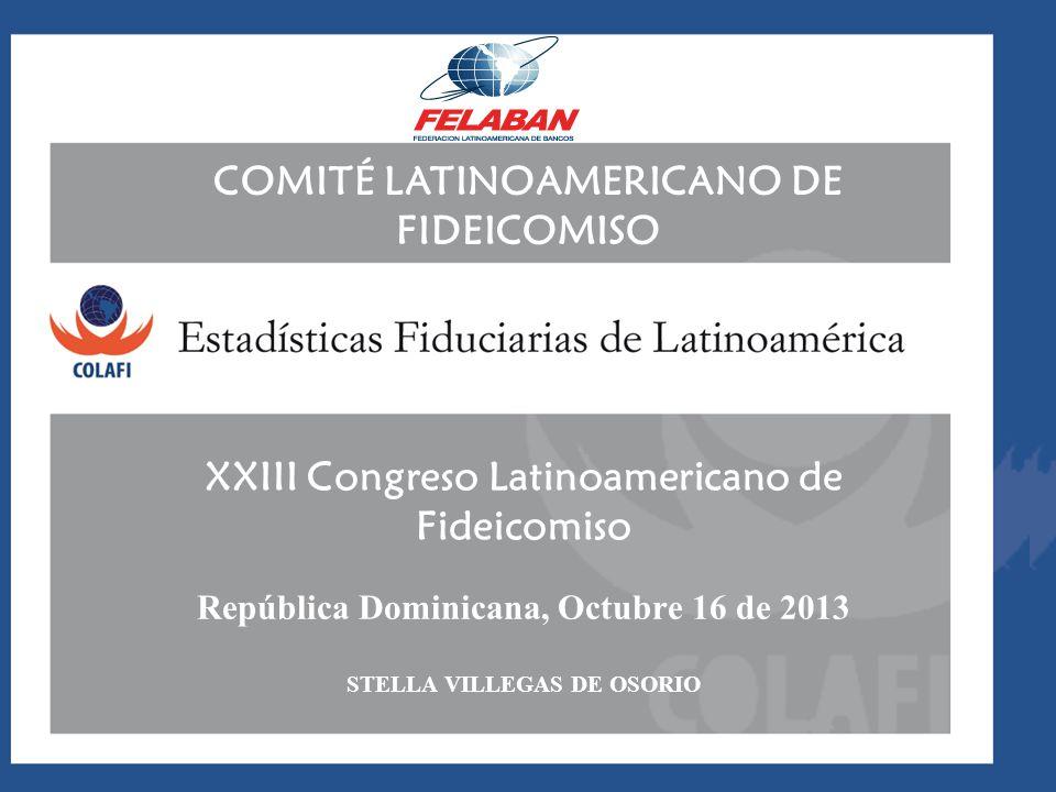 COMITÉ LATINOAMERICANO DE FIDEICOMISO XXIII Congreso Latinoamericano de Fideicomiso República Dominicana, Octubre 16 de 2013 STELLA VILLEGAS DE OSORIO