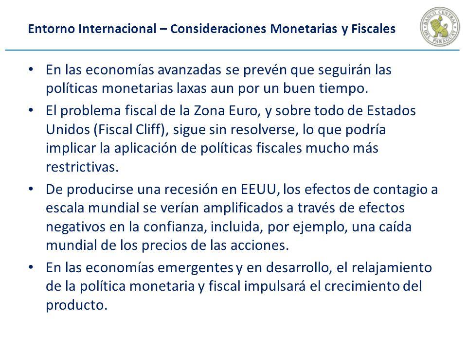 En las economías avanzadas se prevén que seguirán las políticas monetarias laxas aun por un buen tiempo.