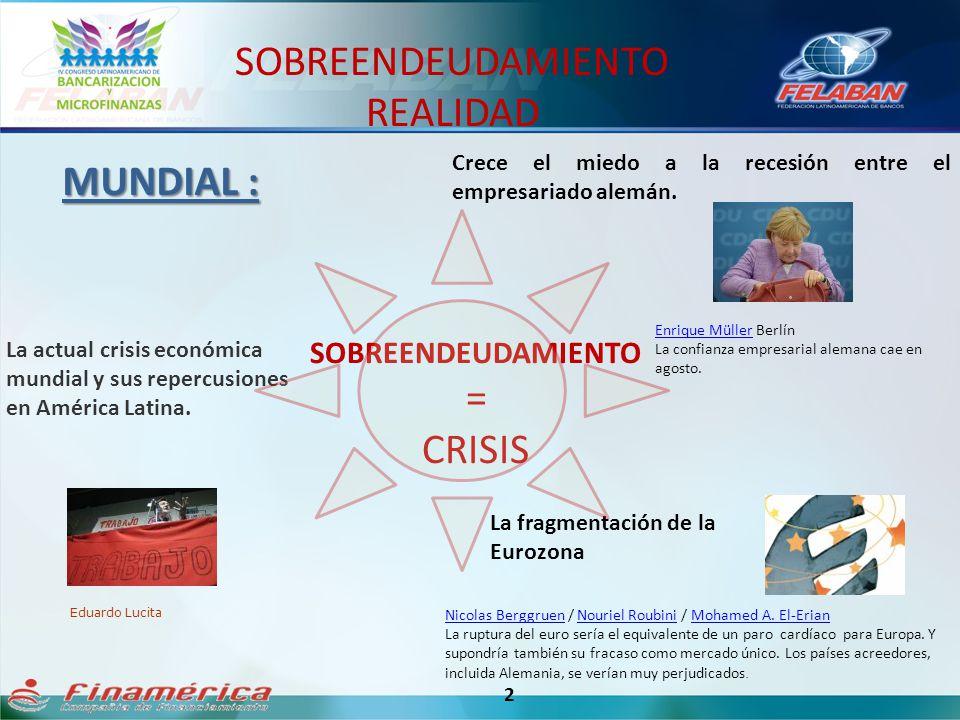 SOBREENDEUDAMIENTO = CRISIS 2 La actual crisis económica mundial y sus repercusiones en América Latina. Eduardo Lucita La fragmentación de la Eurozona