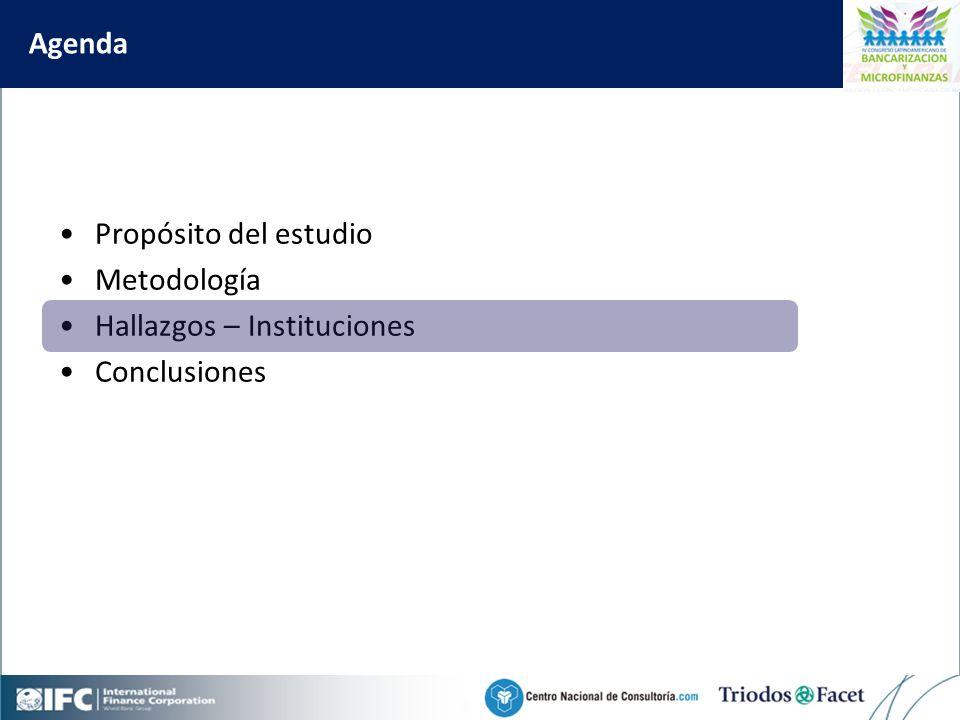 Mobile Financial Services in Colombia Agenda Propósito del estudio Metodología Hallazgos – Instituciones Conclusiones