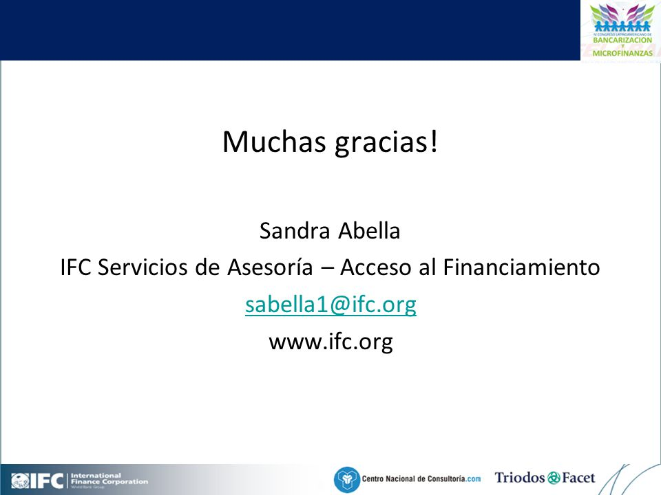 Mobile Financial Services in Colombia Muchas gracias.
