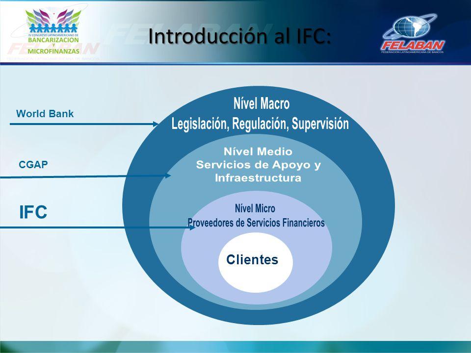 Introducción al IFC: Clientes CGAP IFC World Bank