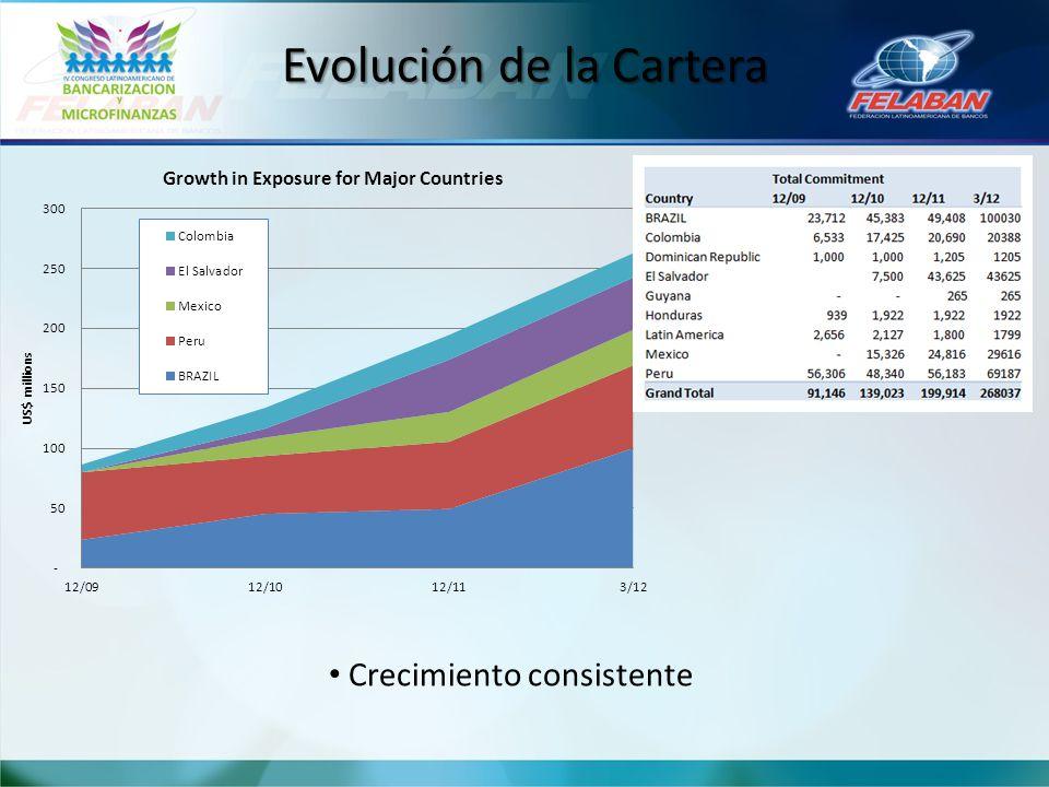 Evolución de la Cartera Crecimiento consistente