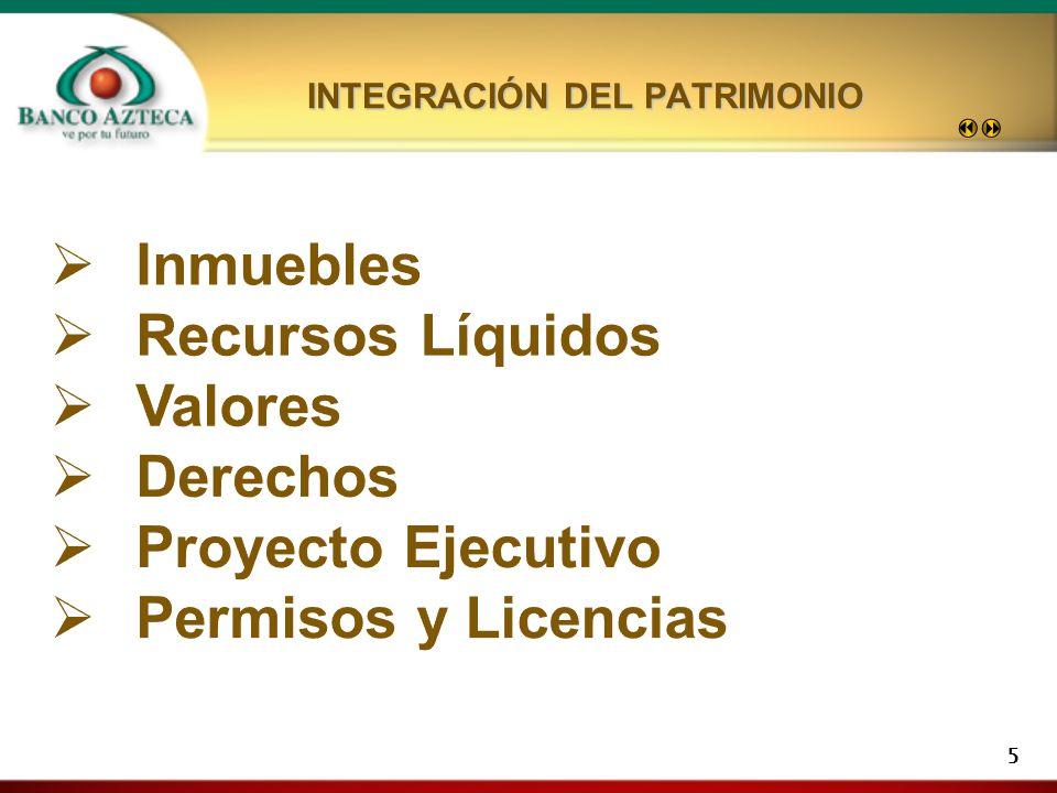 5 INTEGRACIÓN DEL PATRIMONIO