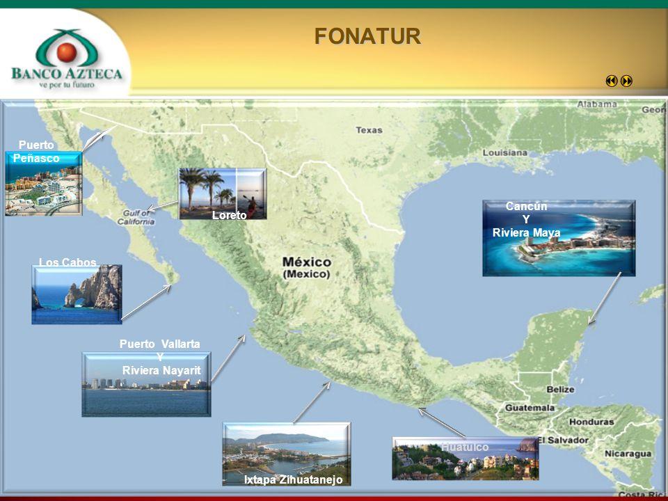 9 Puerto Peñasco Los Cabos Puerto Vallarta Y Riviera Nayarit Ixtapa Zihuatanejo Huatulco Cancún Y Riviera MayaFONATUR Loreto