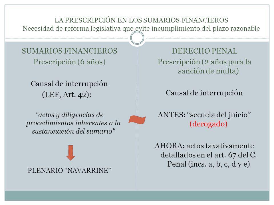 PLENARIO NAVARRINE (9.5.2012) (Cámara Nacional de Apelaciones en lo Contencioso Administrativo Federal ) ¿Cuáles son los actos idóneos para interrumpir la prescripción.