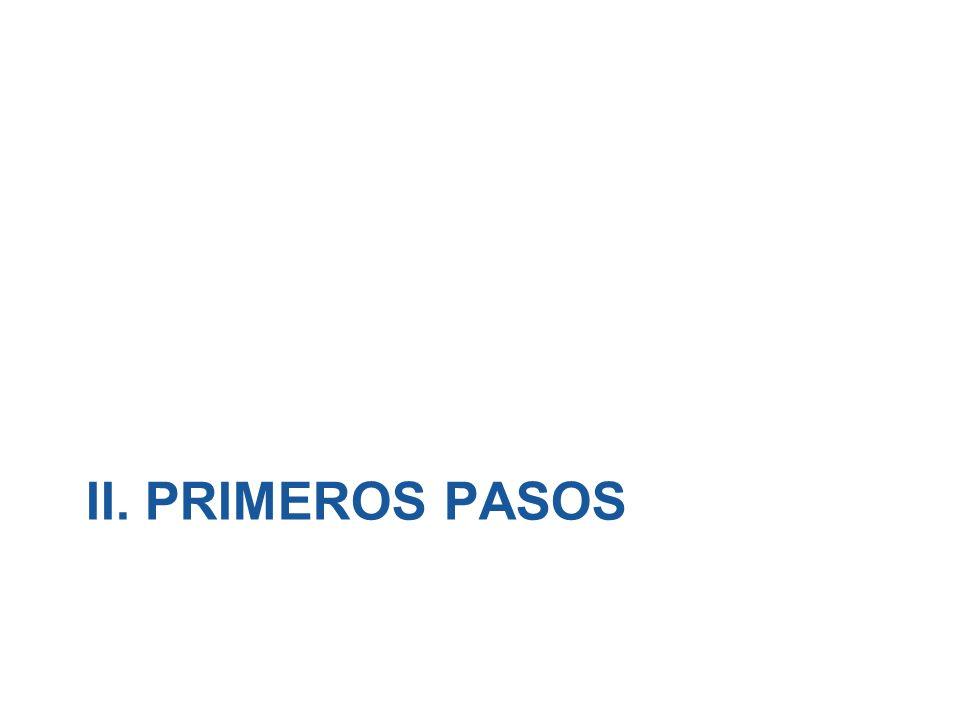 II. PRIMEROS PASOS