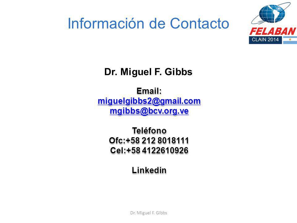 Información de Contacto Dr. Miguel F. Gibbs