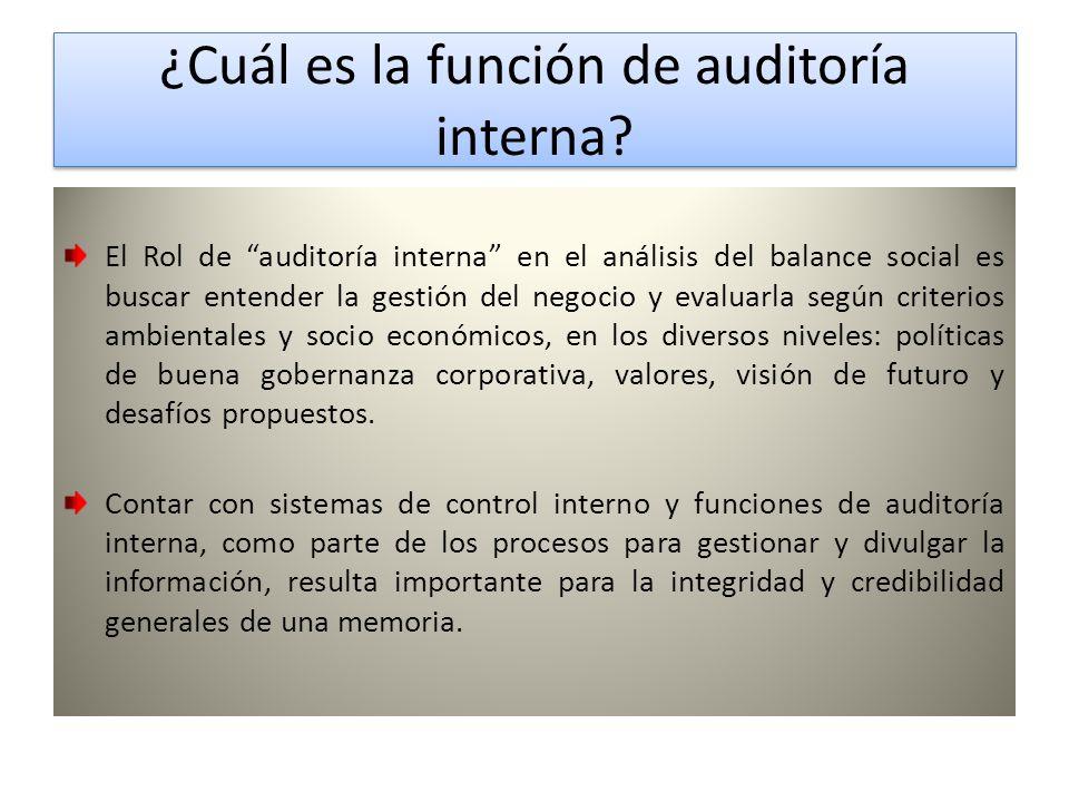 ¿Cuál es la función de auditoría interna.¿Cuál es la función de auditoría interna.