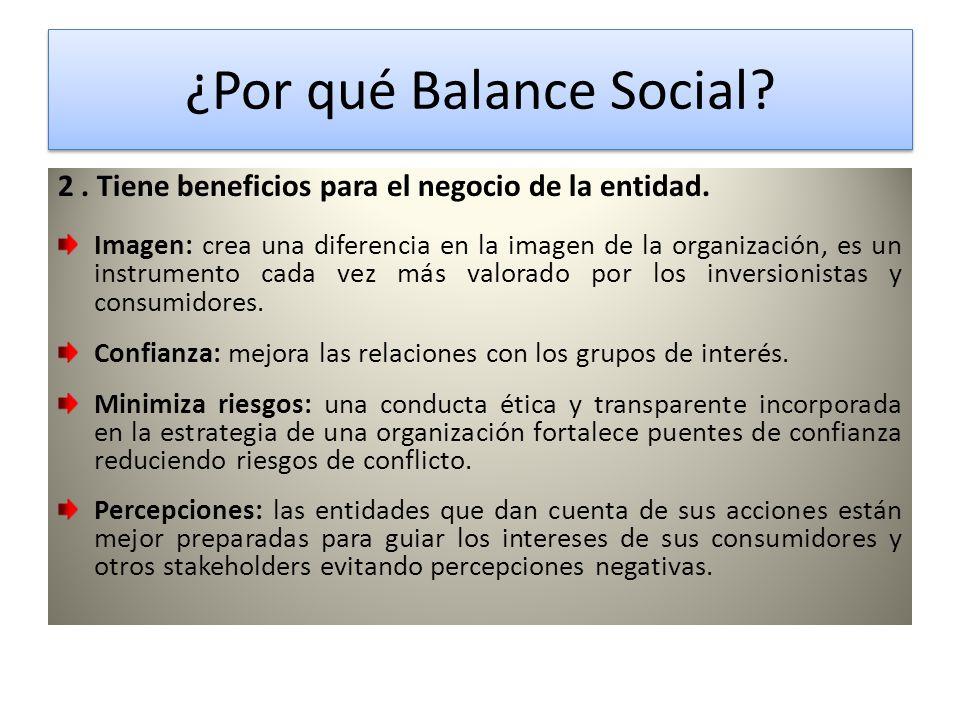 ¿Por qué Balance Social.¿Por qué Balance Social. 2.