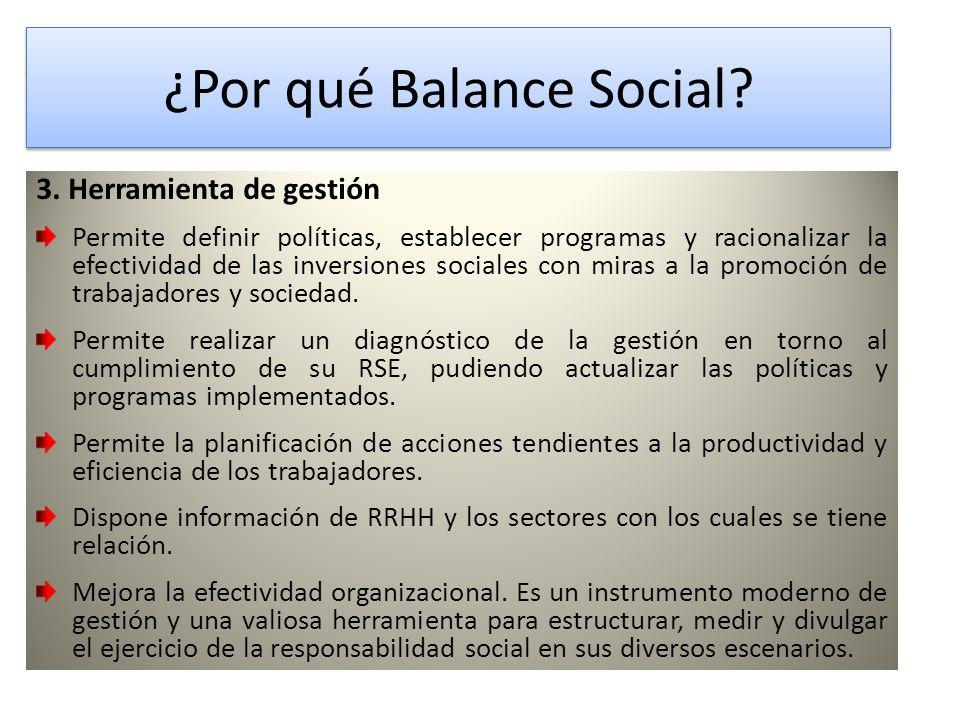 ¿Por qué Balance Social.¿Por qué Balance Social. 3.