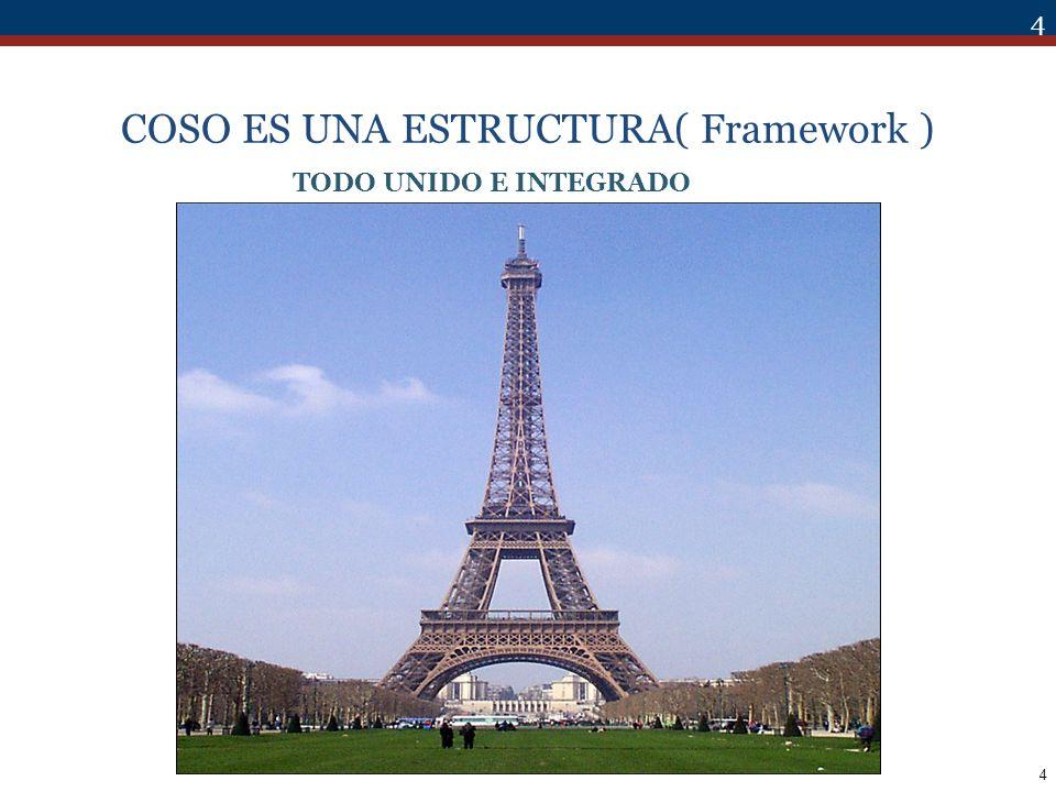 75 COSO Y AUDITORÍA INTERNA El desarrollo e implementación es ajeno a Auditoría Interna.