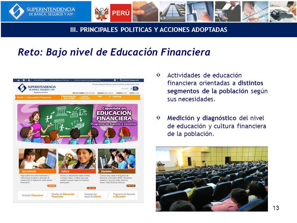 Actividades de educación financiera orientadas a distintos segmentos de la población según sus necesidades.