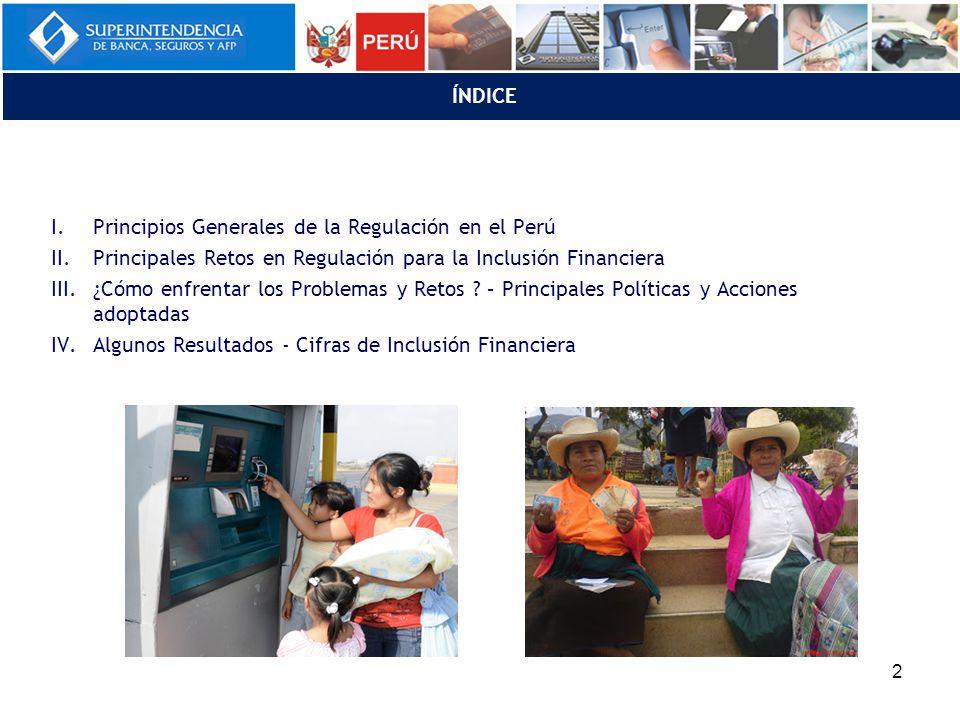 Ley General del SF (artículos 6°- 10°) I. PRINCIPIOS GENERALES DE LA REGULACIÓN EN EL PERÚ