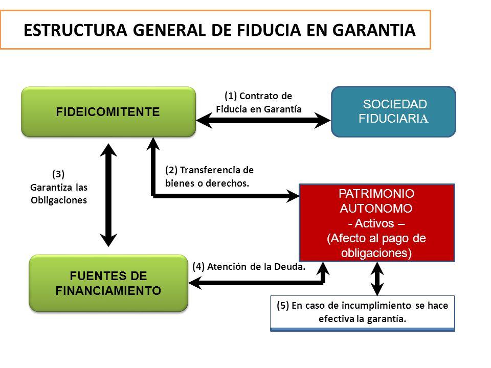 ESTRUCTURA GENERAL DE FIDUCIA EN GARANTIA FIDEICOMITENTE SOCIEDAD FIDUCIARI A FUENTES DE FINANCIAMIENTO PATRIMONIO AUTONOMO - Activos – (Afecto al pag