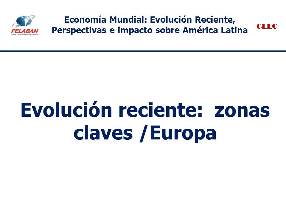 Evolución reciente: zonas claves /Europa CLEC Economía Mundial: Evolución Reciente, Perspectivas e impacto sobre América Latina