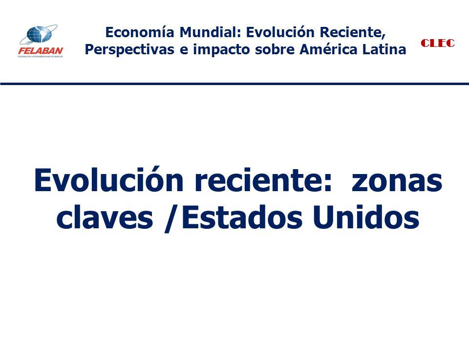 Evolución reciente: zonas claves /Estados Unidos CLEC Economía Mundial: Evolución Reciente, Perspectivas e impacto sobre América Latina