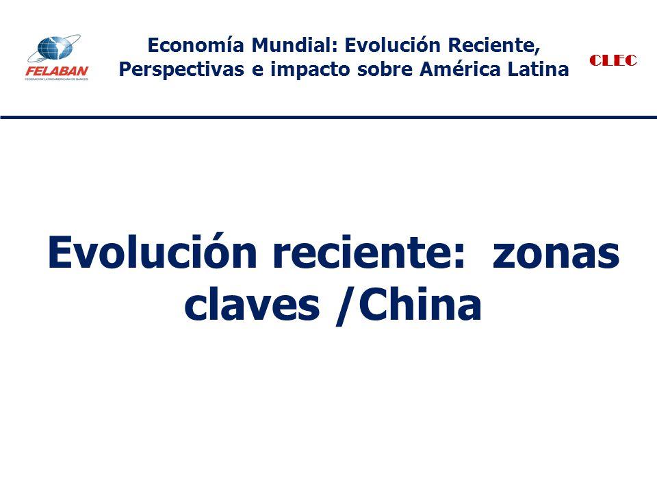 Evolución reciente: zonas claves /China CLEC Economía Mundial: Evolución Reciente, Perspectivas e impacto sobre América Latina