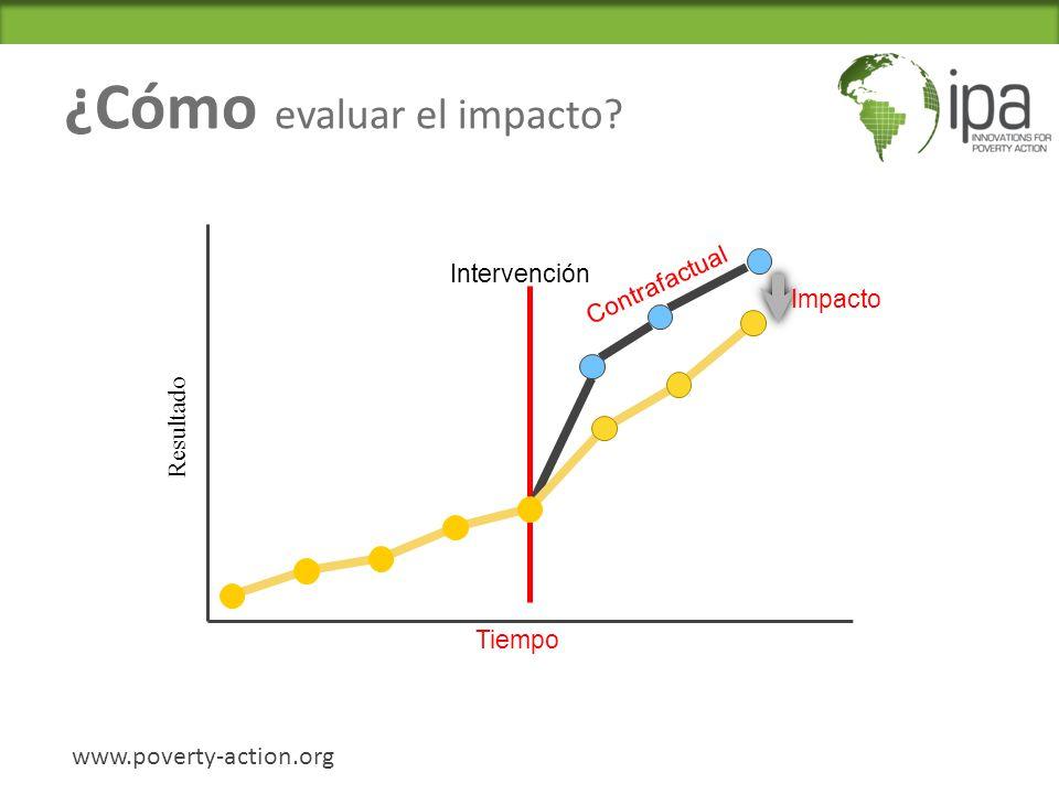 ¿Cómo evaluar el impacto.