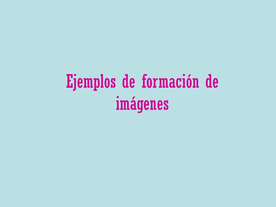 Ejemplos de formación de imágenes
