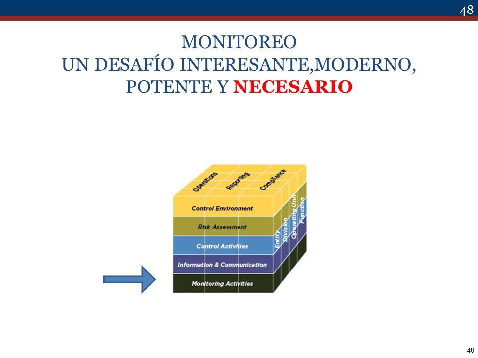 48 MONITOREO UN DESAFÍO INTERESANTE,MODERNO, POTENTE Y NECESARIO 48