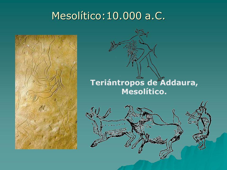 Teriántropos de Addaura, Mesolítico. Mesolítico:10.000 a.C.