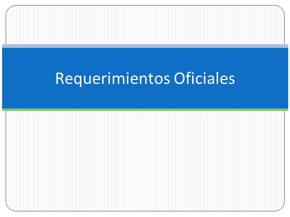 Requerimientos Oficiales
