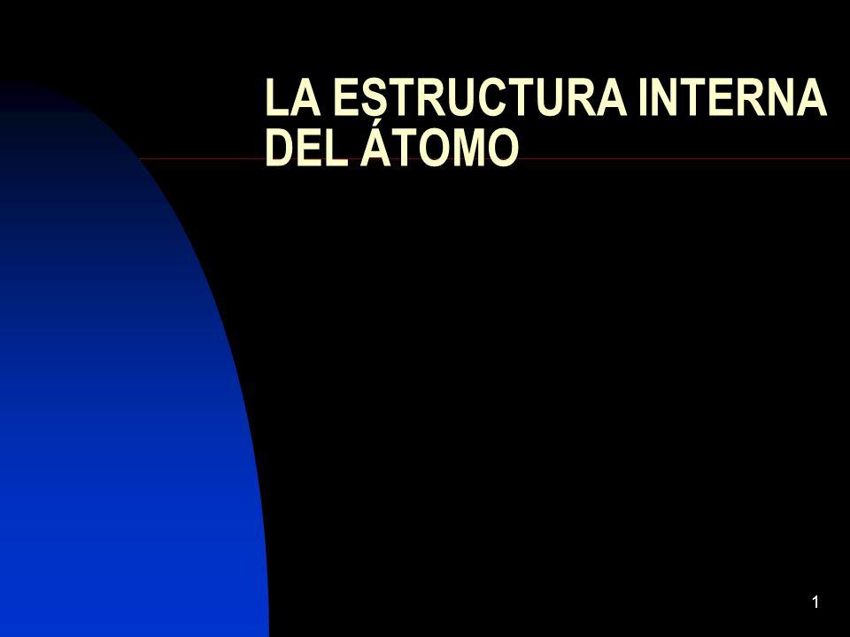 1 LA ESTRUCTURA INTERNA DEL ÁTOMO