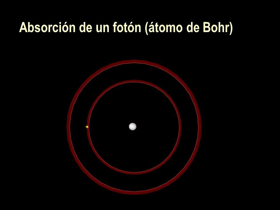 Absorción de un fotón (átomo de Bohr)
