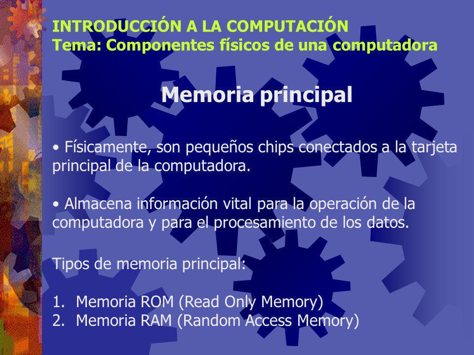 Se iniciaron como fabricantes de coprocesadores matemáticos. Orientados a PC de bajo costo y bajo desempeño INTRODUCCIÓN A LA COMPUTACIÓN Tema: Compon