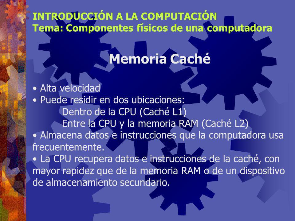 Memoria RAM INTRODUCCIÓN A LA COMPUTACIÓN Tema: Componentes físicos de una computadora Tecnologías de memoria RAM FPM DRAM (Fast page mode dynamic ran