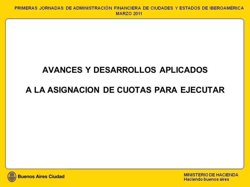 AVANCES Y DESARROLLOS APLICADOS A LA ASIGNACION DE CUOTAS PARA EJECUTAR