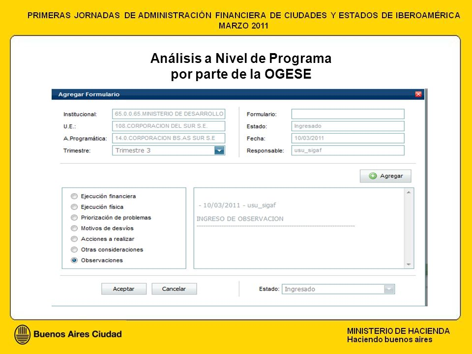 Análisis a Nivel de Programa por parte de la OGESE