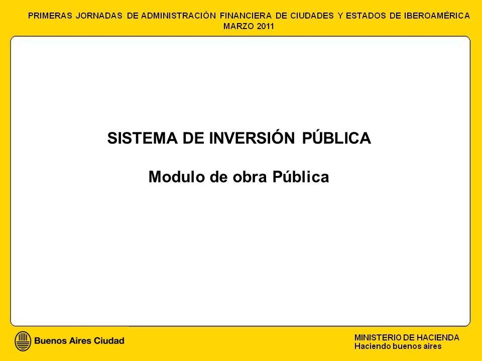SISTEMA DE INVERSIÓN PÚBLICA Modulo de obra Pública