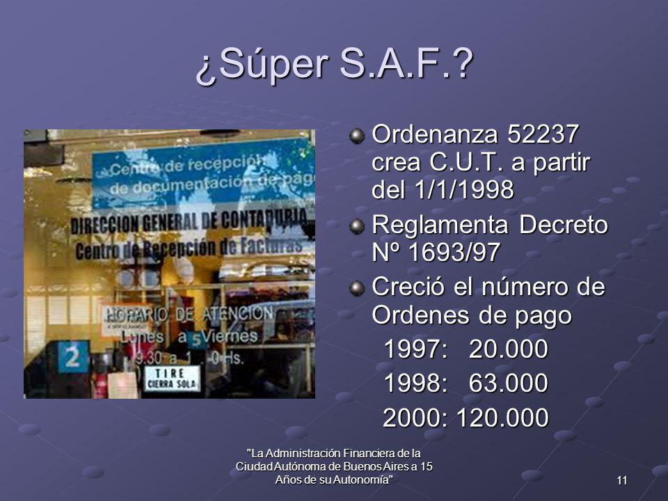 10 La Administración Financiera de la Ciudad Autónoma de Buenos Aires a 15 Años de su Autonomía ¿Súper – Tribunal de Cuentas.