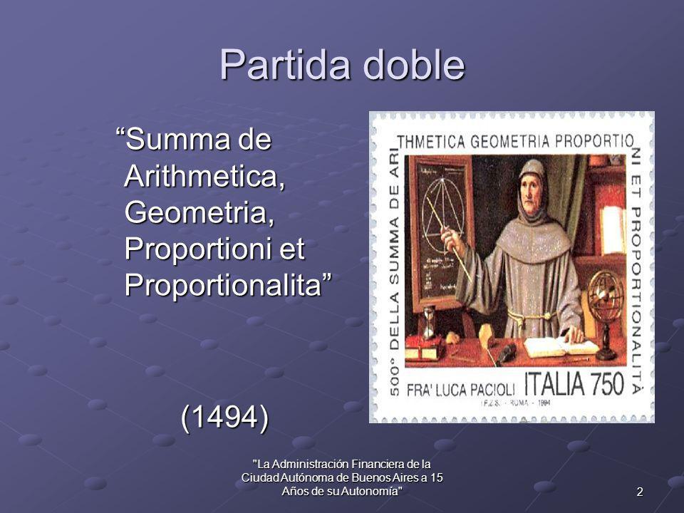 El Sistema de Contabilidad de la CABA hace 15 Años Cr. Eduardo Daniel Prina