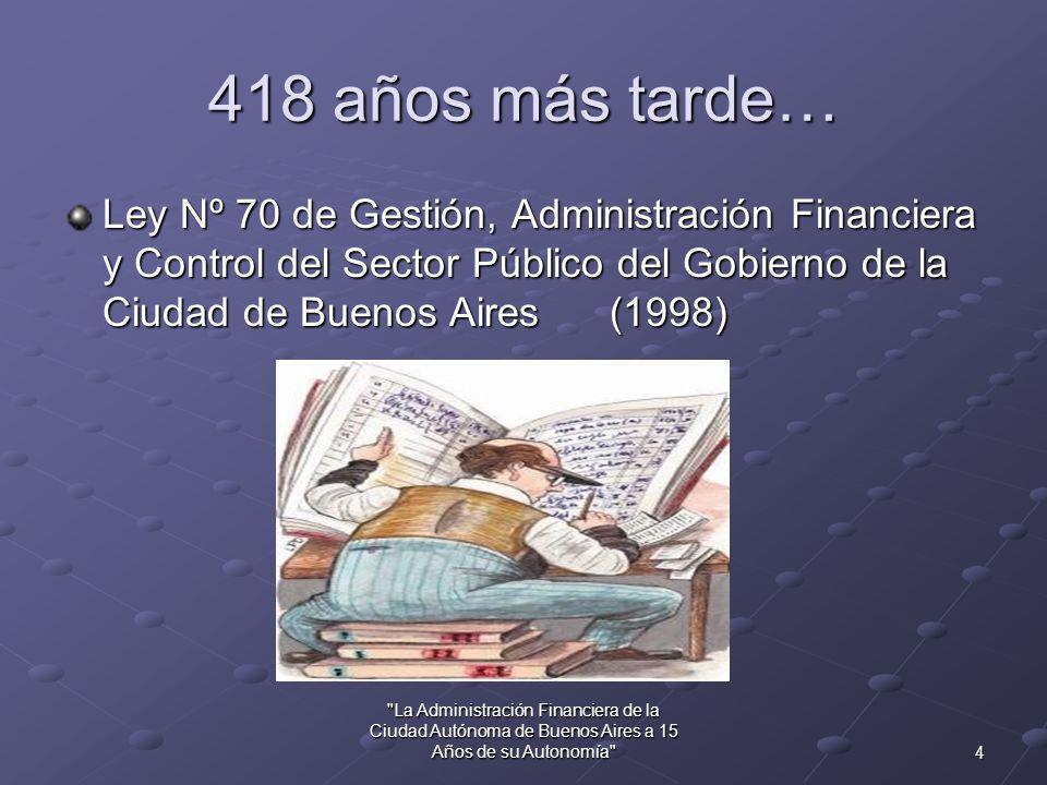 3 La Administración Financiera de la Ciudad Autónoma de Buenos Aires a 15 Años de su Autonomía 86 años después… Segunda fundación de Buenos Aires Segunda fundación de Buenos Aires(1580)