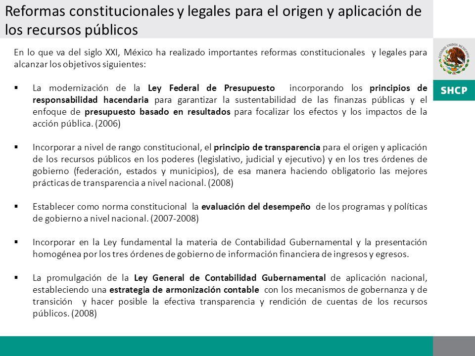 En lo que va del siglo XXI, México ha realizado importantes reformas constitucionales y legales para alcanzar los objetivos siguientes: La modernizaci