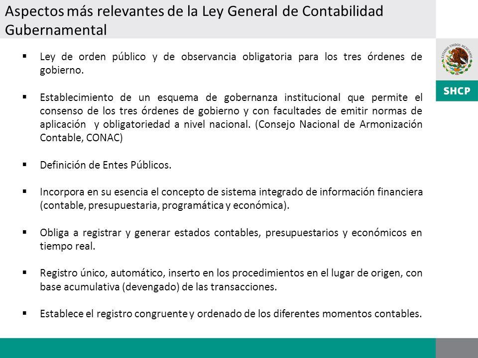 Ley de orden público y de observancia obligatoria para los tres órdenes de gobierno. Establecimiento de un esquema de gobernanza institucional que per