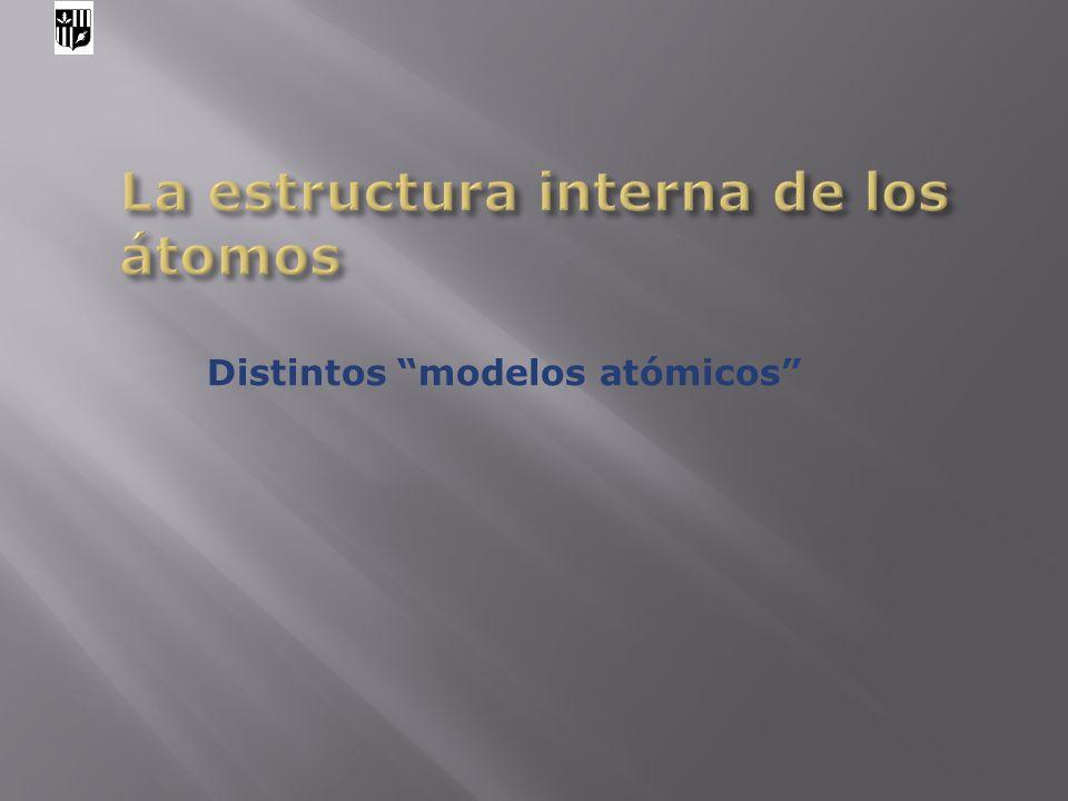 Distintos modelos atómicos