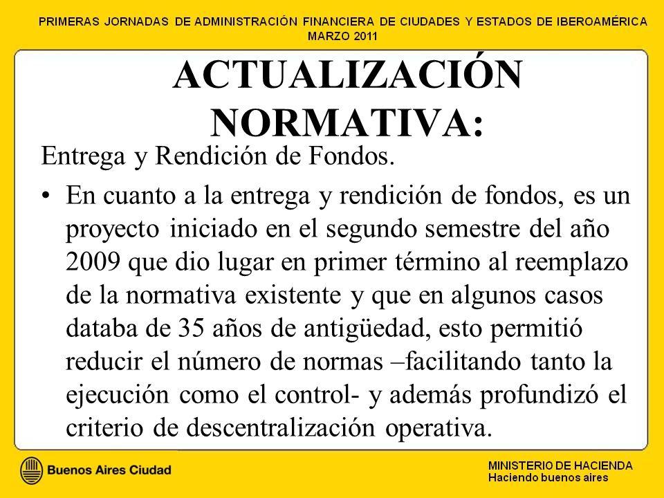 ACTUALIZACIÓN NORMATIVA: Entrega y Rendición de Fondos.