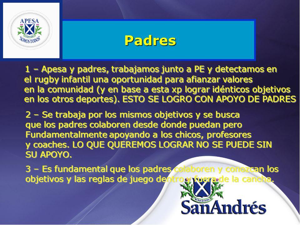 Padres 3 – Es fundamental que los padres colaboren y conozcan los objetivos y las reglas de juego dentro y fuera de la cancha.