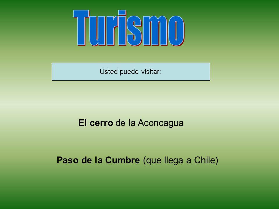Usted puede visitar: El cerro de la Aconcagua Paso de la Cumbre (que llega a Chile)
