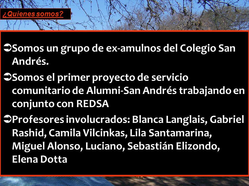 ¿Quienes somos.Somos un grupo de ex-amulnos del Colegio San Andrés.