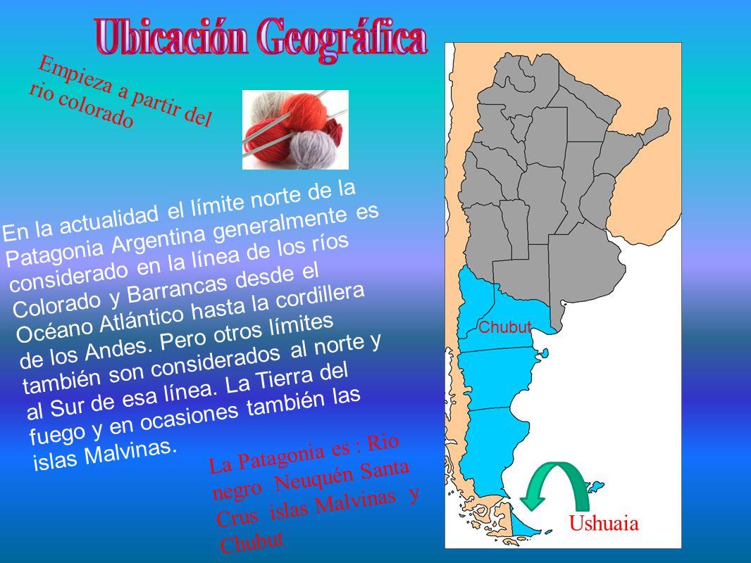 En la actualidad el límite norte de la Patagonia Argentina generalmente es considerado en la línea de los ríos Colorado y Barrancas desde el Océano Atlántico hasta la cordillera de los Andes.