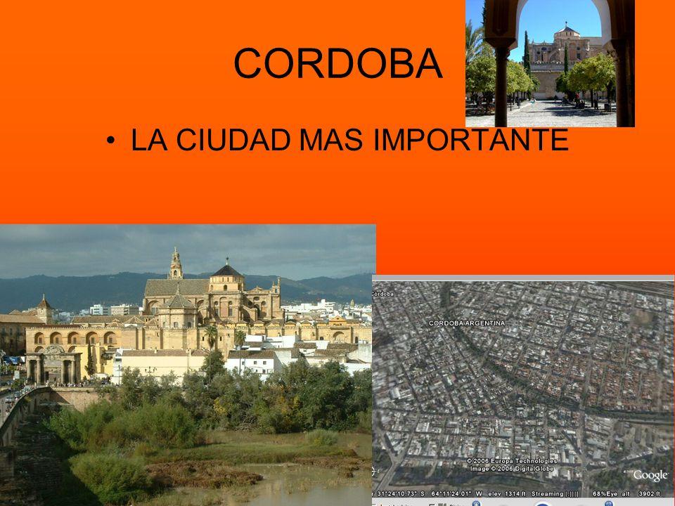 Ciudades importantes Córdoba, San Luis, Catamarca y la Rioja son las ciudades importantes CórdobaSan Luis La Rioja