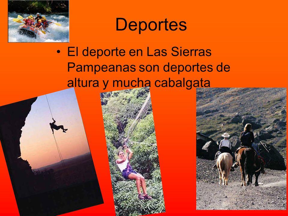 ¡¡TURISMO!! El turismo en las Sierras Pampeanas se centra en la naturaleza