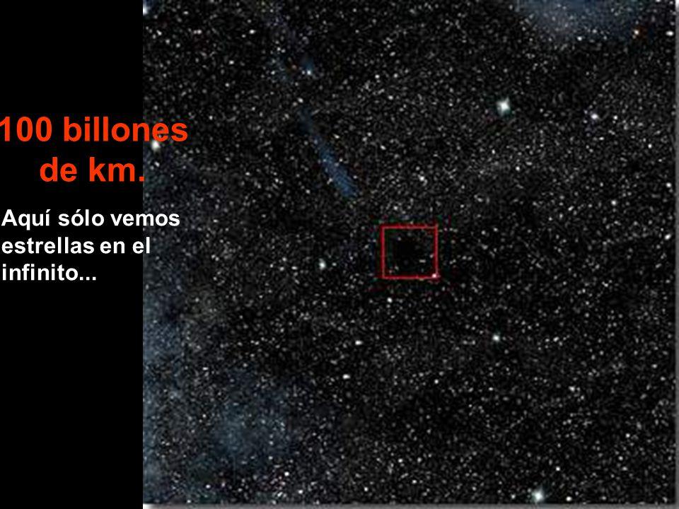 Aquí sólo vemos estrellas en el infinito... 100 billones de km.