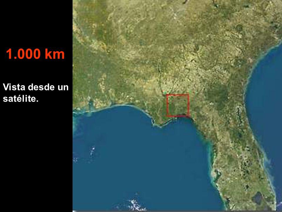 Vista desde un satélite. 1.000 km