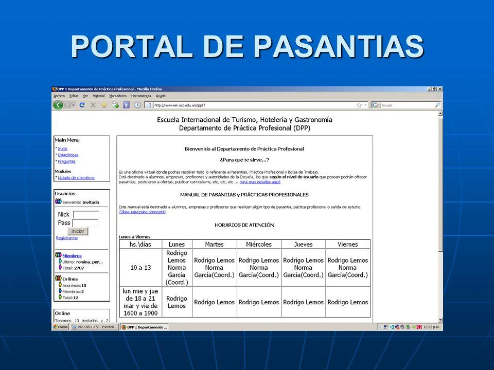 PORTAL DE PASANTIAS